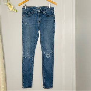 Levis 711 Skinny Ripped Jeans 29